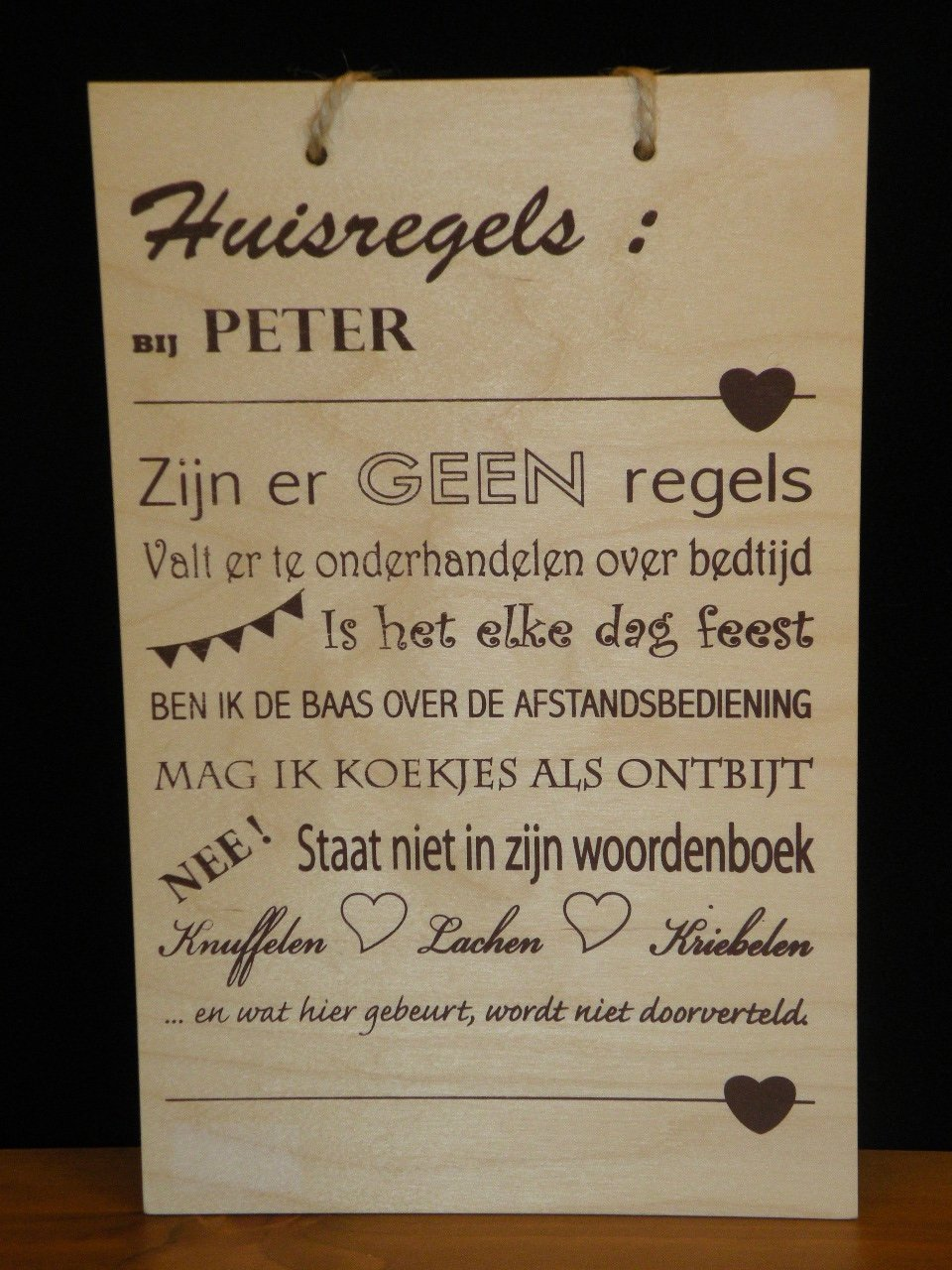 Muurplaat Peter